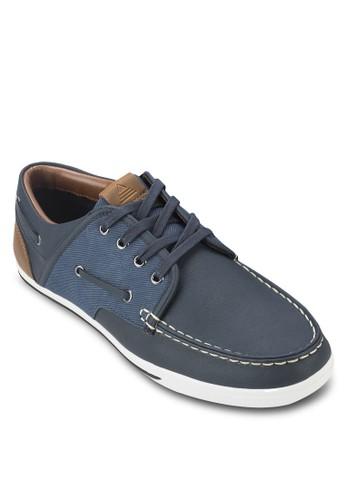 Greeney 拼接繫帶休閒鞋, 鞋,zalora鞋 休閒鞋