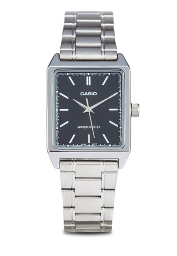 Casio MTP-zalora退貨V007D-1EUDF 不銹鋼方錶, 錶類, 不銹鋼錶帶