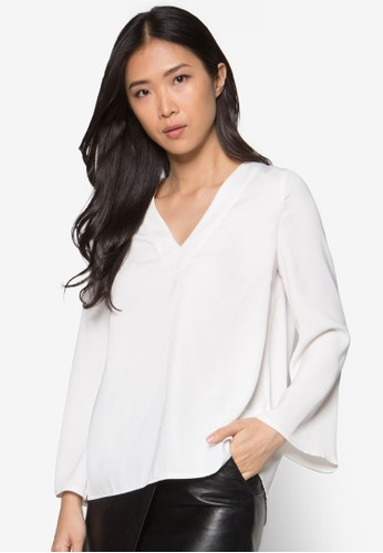 Zalora White Blouse 36
