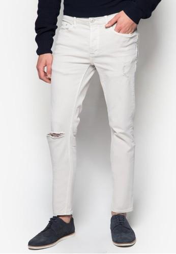水洗彈性zalora 台灣窄管牛仔褲, 服飾, 服飾