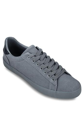 撞色鞋背帆布繫帶休閒鞋, 鞋, 休zalora 心得閒鞋