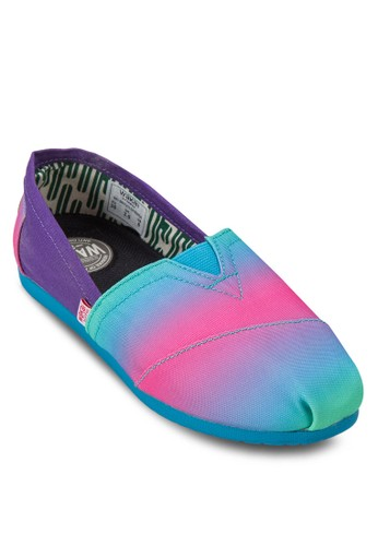 Orenda 漸層多色zalora退貨懶人鞋, 女鞋, 懶人鞋