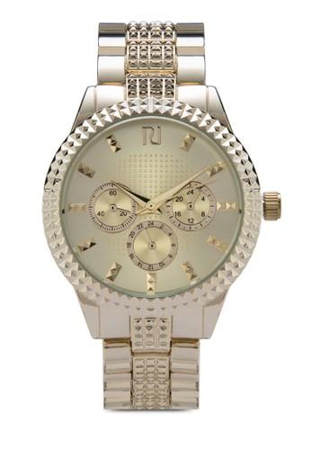 鉚釘細節鍊錶, 錶類, zalora 評價不銹鋼錶帶