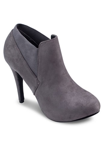 細跟麂皮踝zalora 評價靴, 女鞋, 高跟