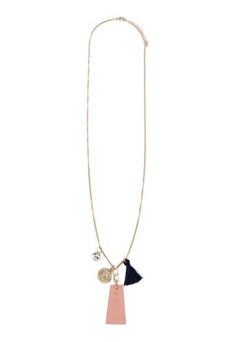 珠子流蘇墜飾zalora 鞋評價項鍊, 飾品配件, 項鍊