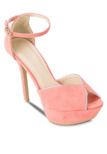 露趾繞踝麂皮高跟鞋, zalora 鞋評價女鞋, 魚口鞋