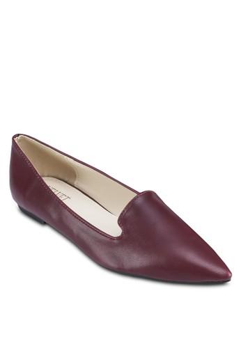 Lauren 仿皮zalora退貨尖頭樂福鞋, 女鞋, 船型鞋