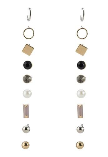 九入幾何閃石耳環, 飾品配件zalora 鞋評價, 飾品配件
