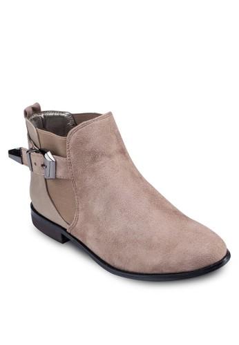 扣環踝帶短靴zalora 評價, 女鞋, 靴子