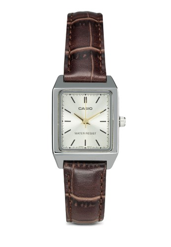 Casio LTP-V007L-9EUDF 三指針皮革錶, 錶類zalora 鞋評價, 皮革錶帶