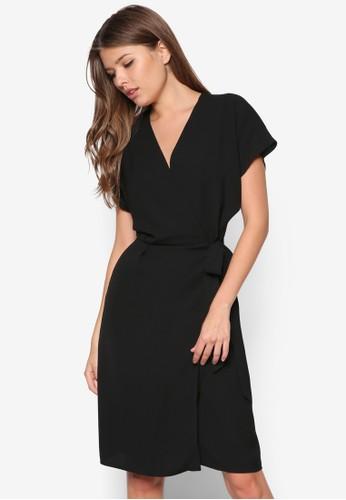 裹飾腰帶洋裝zalora退貨, 服飾, 服飾