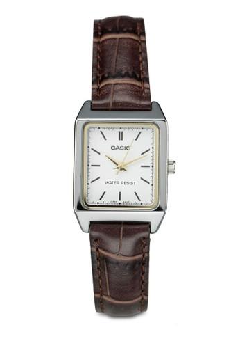 Casio zalora退貨LTP-V007L-7E2UDF 三指針皮革錶, 錶類, 皮革錶帶
