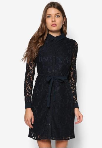 襯衫式蕾絲洋裝,zalora鞋 服飾, 洋裝