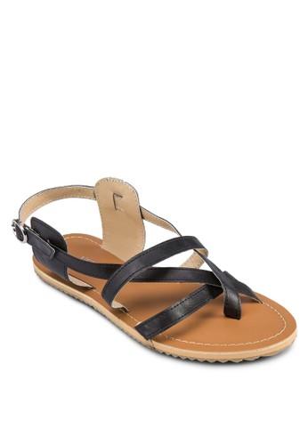Kirsten 交叉帶涼鞋, zalora 台灣女鞋, 鞋