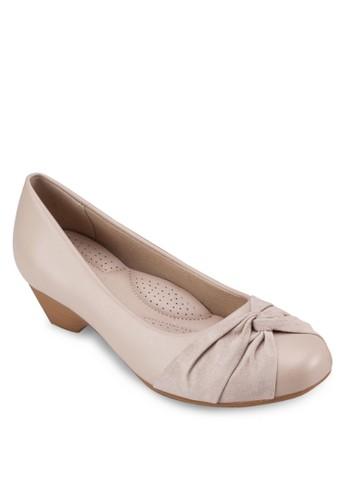 扭結圓頭中跟楔型鞋, 女zalora 鞋評價鞋, 鞋