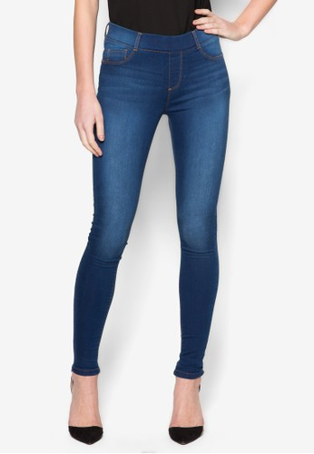 70S Mid Blue 'Edzalora 鞋評價en' Jegging, 服飾, 彈力牛仔褲