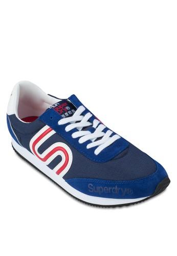 條紋邊飾繫帶運動鞋, 鞋, Footweazalora退貨r