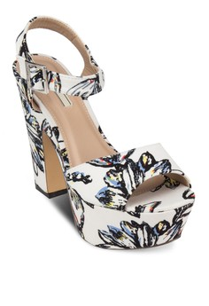 Floral Printed Wedges