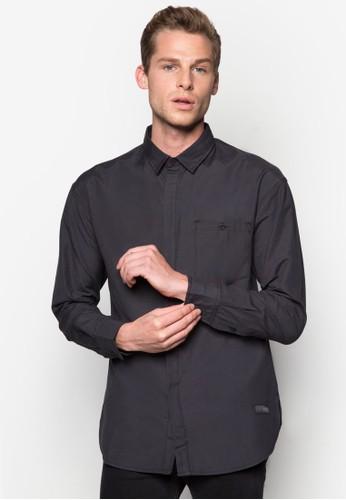 寬版長袖襯衫, 服飾, 素zalora 心得色襯衫
