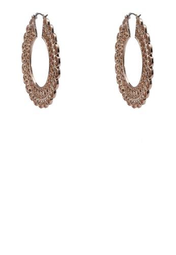 掐絲雕花鏤空耳墜, 飾品配件,zalora 心得 耳扣