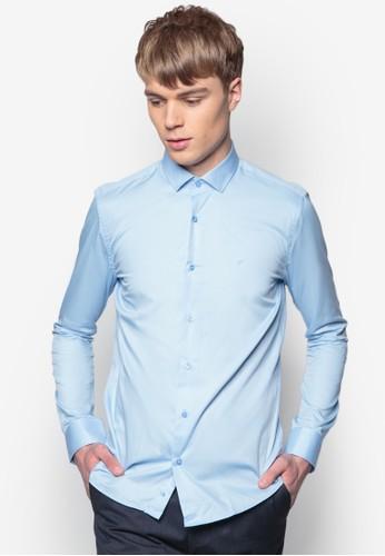合zalora 心得身長袖襯衫, 服飾, 素色襯衫