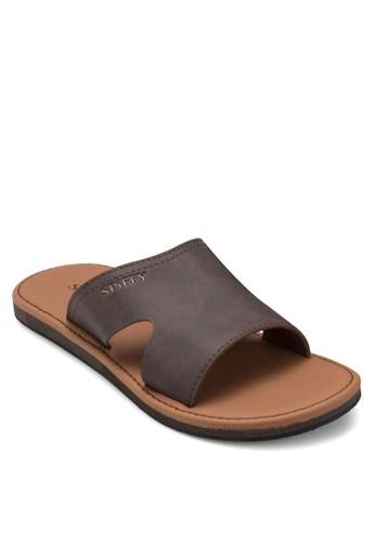 鏤空寬帶休閒拖鞋, 鞋,zalora 鞋評價 拖鞋
