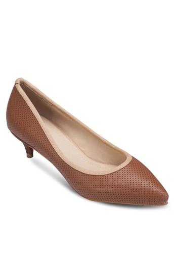 Czalora 台灣arissa 尖頭暗紋低跟淑女鞋, 女鞋, 拖鞋