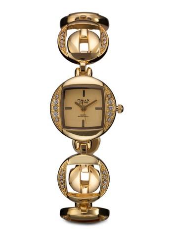 JES632G 閃鑽圓框鍊錶, 錶類, 時尚zalora 鞋評價型