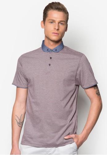 撞色領印花POLO衫, 服飾, Pozalora 評價lo衫