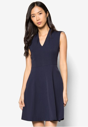 Collectiozalora鞋子評價n 抓褶無袖連身裙, 服飾, 正式洋裝