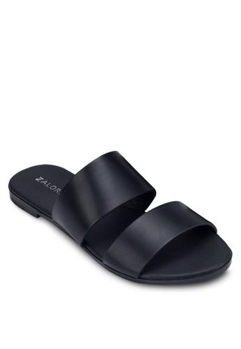 金屬感雙帶拖zalora 心得鞋, 女鞋, 鞋