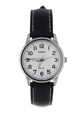 LTP-1303zalora 心得L-7BVDF 三指針數字皮革錶, 錶類, 皮革錶帶