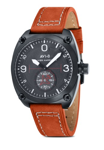 Hawzalora開箱ker Harrier II 皮革大腕錶, 錶類, 指針型