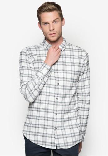格紋長袖襯衫,zalora 心得 服飾, 服飾