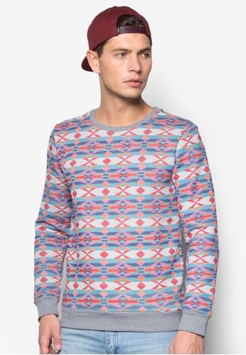 肘貼潮流印花長袖衫zalora開箱, 服飾, 服飾