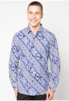 Baju Batik Pria Lengan Panjang Masa Kini