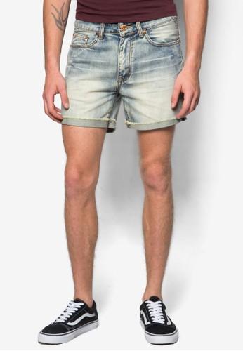 復古水zalora 鞋評價洗丹寧短褲, 服飾, 短褲