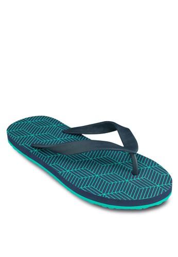 Geometric zalora 台灣Flip Flops, 鞋, 鞋