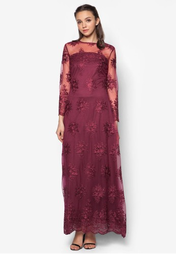Lace A-Line Dress, 服飾, 洋zalora開箱裝