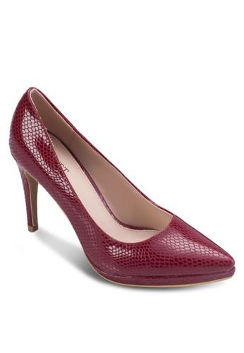 亮zalora退貨面動物紋高跟鞋, 女鞋, 鞋
