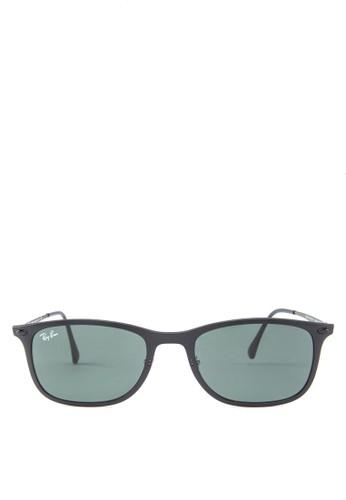 RB4225 透明方zalora鞋子評價框太陽眼鏡, 飾品配件, 飾品配件