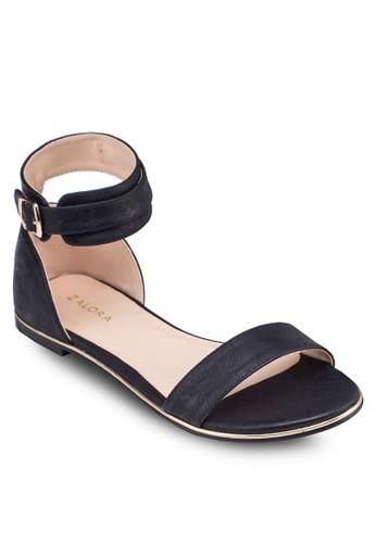 佩斯利zalora退貨暗紋平底涼鞋, 女鞋, 鞋
