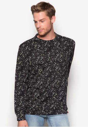 噴彩長袖針織衫, 服zalora 台灣飾, 外套