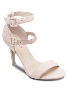 雙扣環繞踝高跟鞋