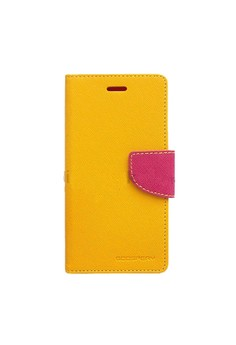 Mercury Goospery Fancy Diary for LG G Optimus Pro Case - Yellow/H…