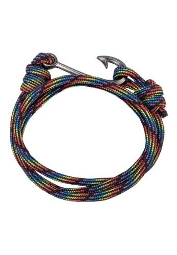 金屬鉤扣層次手zalora 心得環, 飾品配件, 手環