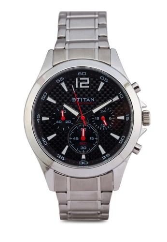 Titan 9323SM06 zalora鞋子評價多錶盤金屬錶, 錶類, 紳士錶