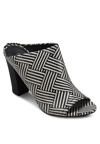 Kacy 印花寬帶粗跟涼鞋, 女鞋, zalora 心得魚口鞋