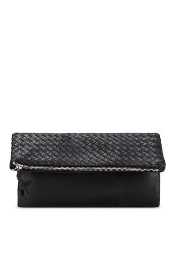暗紋折疊手拿包, zalora 評價包, 包