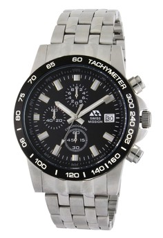 Swiss Mission Elegant Chrono Watch SM 1671 SS BL